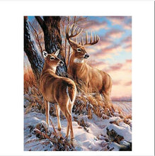 Load image into Gallery viewer, Two Reindeer - Paint by Numbers Kit