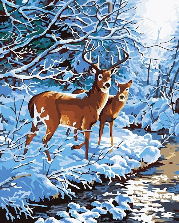 Deer In Jungle painting