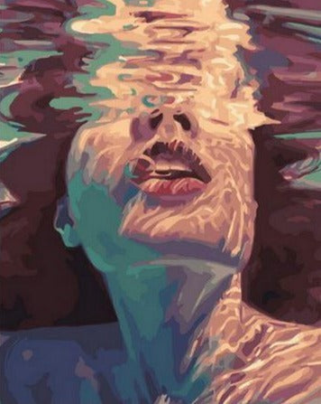 Underwater Girl - Painting by Numbers