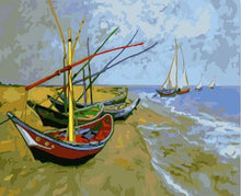 Load image into Gallery viewer, Van Gogh Boat - Paint by Numbers