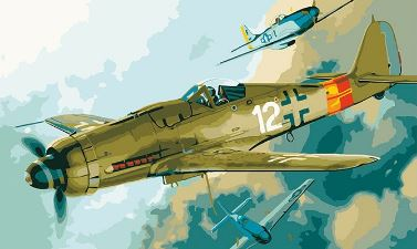 Vintage Fighter Jet - Paint by Numbers