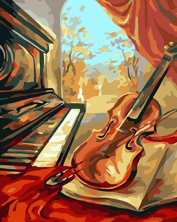 Violin And Piano painting kit
