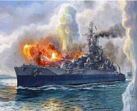 Warship in Action - Painting Kit