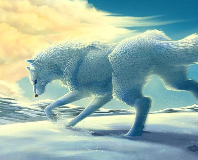 White Running Wolf Kit