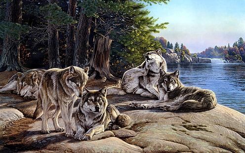 Wolf pack Painting By Number