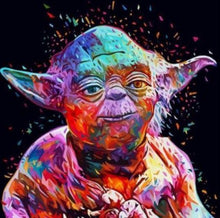 Load image into Gallery viewer, Colorful Yoda Painting Kit