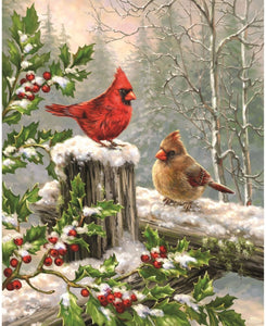 Red Birds Paint by numbers kit
