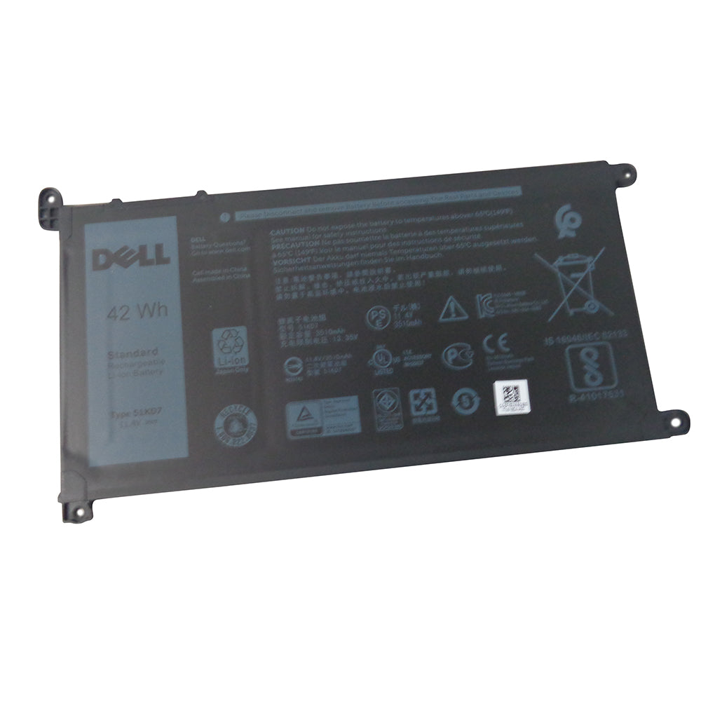 Dell Chromebook 3100 3180 3181 3189 5190 Laptop Battery 51KD7