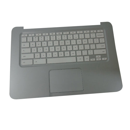 HP Chromebook 14-Q Laptop Silver Palmrest Keyboard & Touchpad