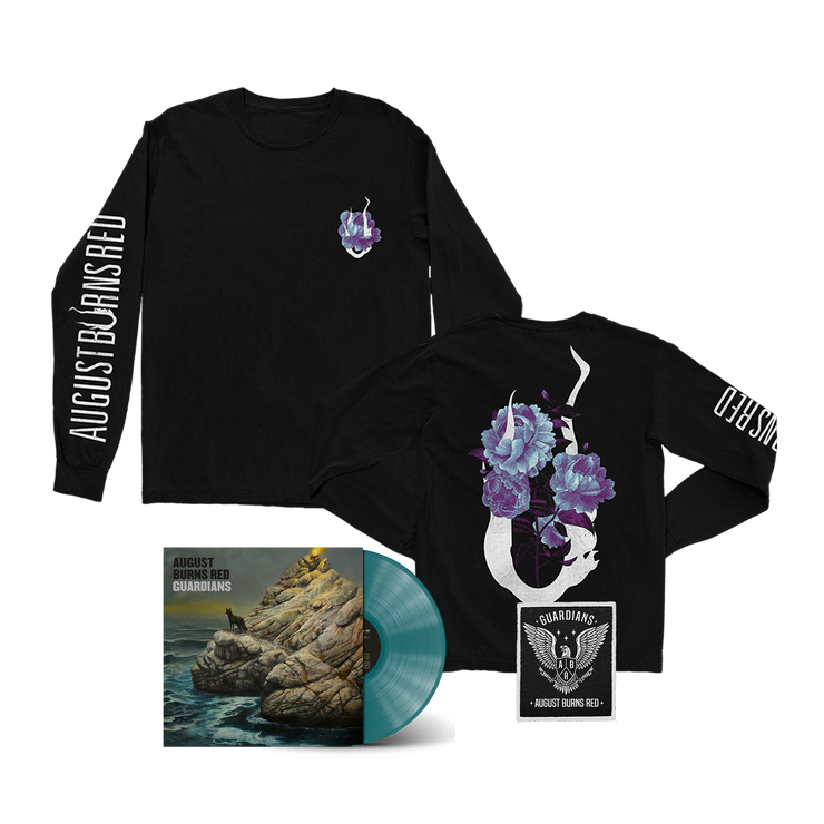 Guardians / Flower Long Sleeve + LP (Deep Sea Blue) + Patch