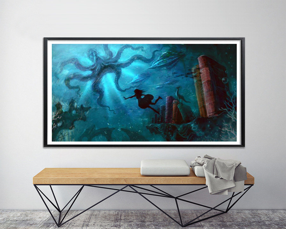 20,000 Leagues (Art Print) - Mysterious Shop