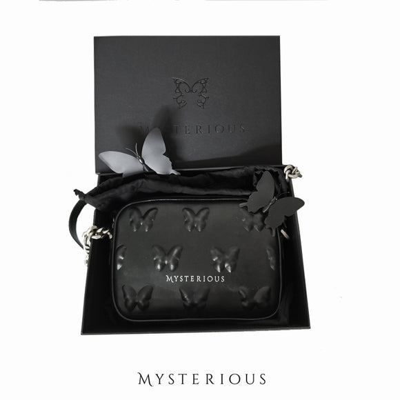 Vorpal Butterfly Black Leather Purse
