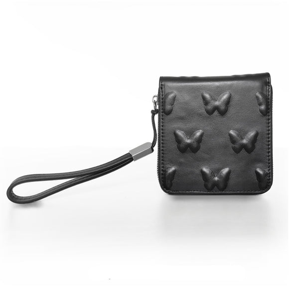 Vorpal Butterfly Black Leather Wallet - Mysterious Shop