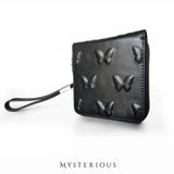 Vorpal Butterfly Black Leather Wallet - Mysterious