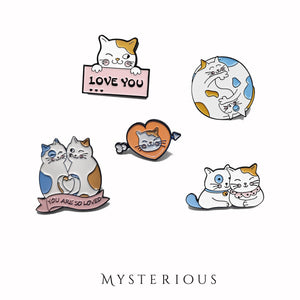 Love Cats Pin Set - Mysterious