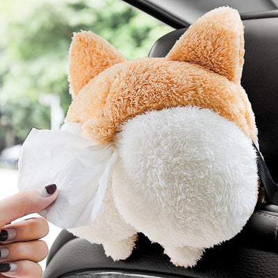 Corgi Butt Tissue Dispenser - Mysterious