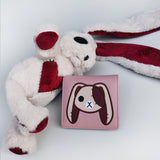 Angry and Love Rabbit Leather Wallet