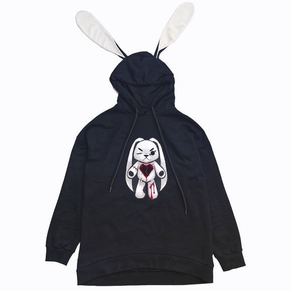 Angry Rabbit Hoodie - Mysterious Shop