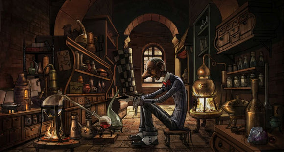 Hatter Workshop (Art Print) - Mysterious Shop