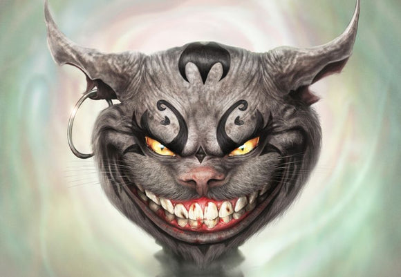 Cheshire Grin (Art Print) - Mysterious Shop