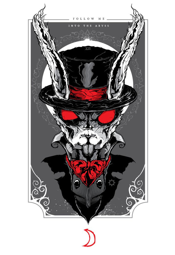 White Rabbit MINI (Art Print) - Mysterious
