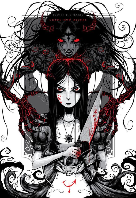 Chaos Alice MINI (Art Print) - Mysterious