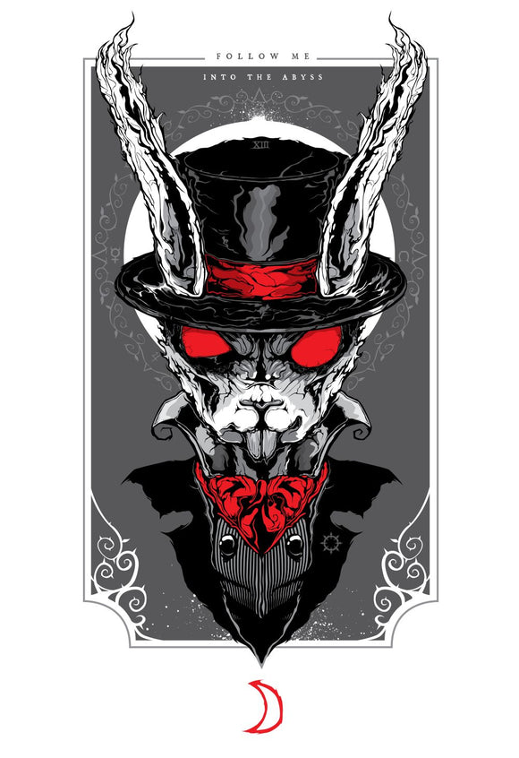 White Rabbit (Art Print) - Mysterious