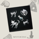 Kitty Skeleton Pins - Mysterious