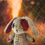 Plushie Dreadfuls -  Distressed White Rabbit Plush - Mysterious