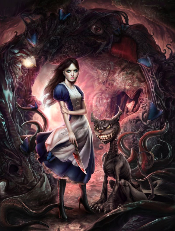 Dark Wonderland (Art Print) - Mysterious
