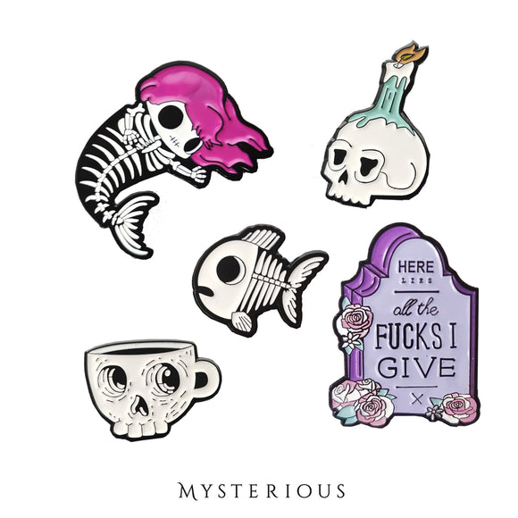Graveyard Pin Set - Mysterious Shop