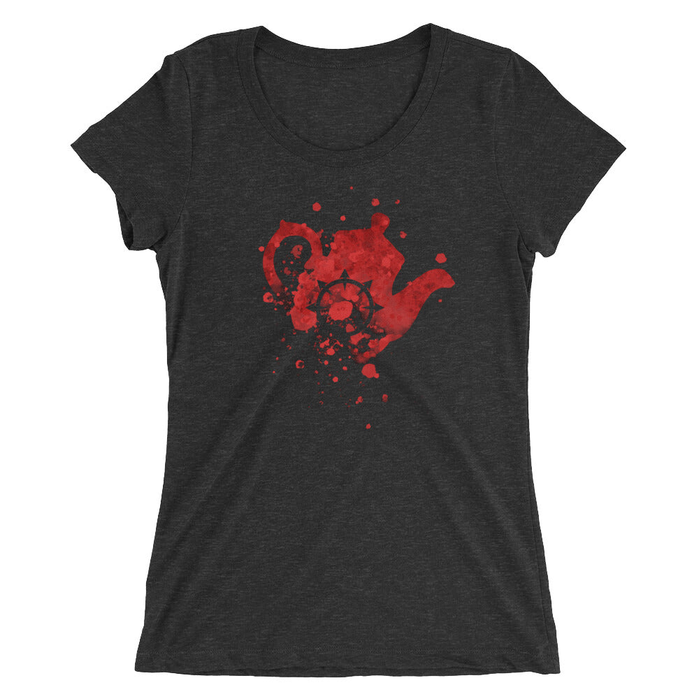 Ladies' short sleeve Bloody Tea Time t-shirt - 奥 Mysterious