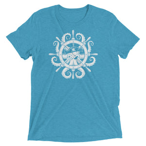 "Short sleeve Pirate Jam ""Steering Wheel Octopus"" t-shirt White Version - 奥 Mysterious"