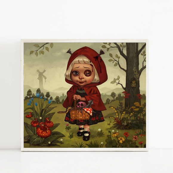 Red Riding Hood (Art Print) - Mysterious Shop