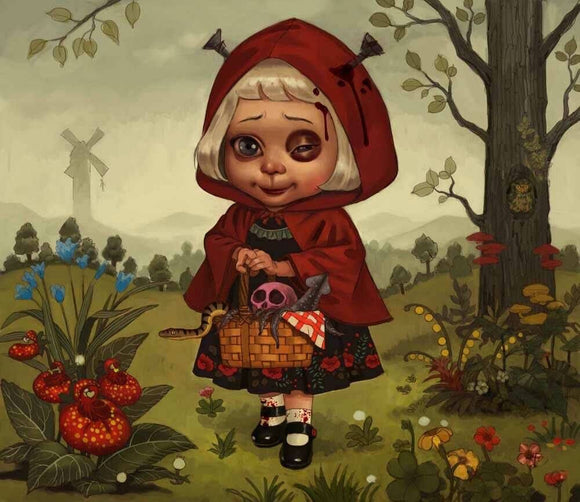 Red Riding Hood (Art Print) - 奥 Mysterious
