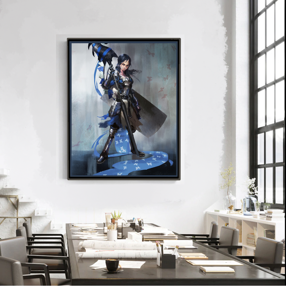 Royal Blue Knight (Art Print) - Mysterious