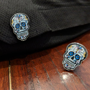 Day of the Dead Skull Cufflinks - 奥 Mysterious