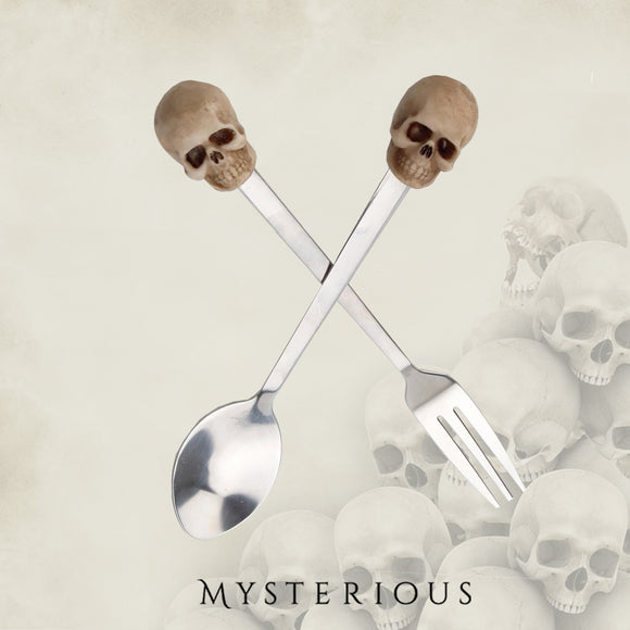 Skull Spoon and Fork Set
