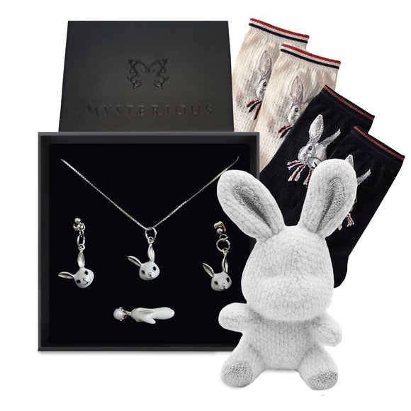 White Bunny Gift Set - Mysterious