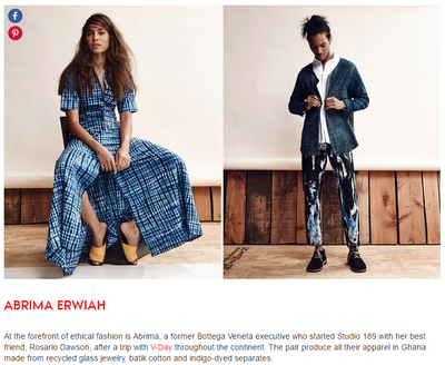 Teen Vogue Recognizes Abrima Erwiah as Among Some Top Designers to Watch in Ghana