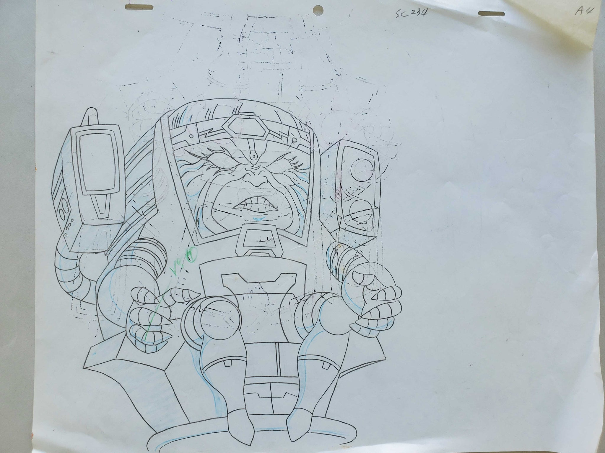 Hulk 2 MODOK Sketch Art (EX0457) - Animation Legends