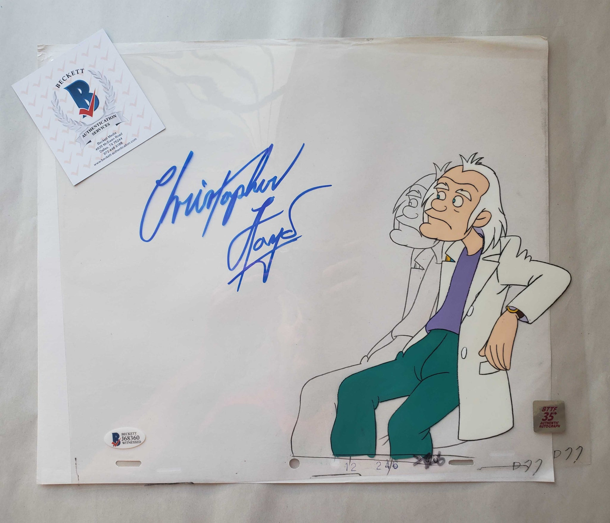 Doc Cel Signed by Christopher Lloyd 29 (EX0498) - Animation Legends