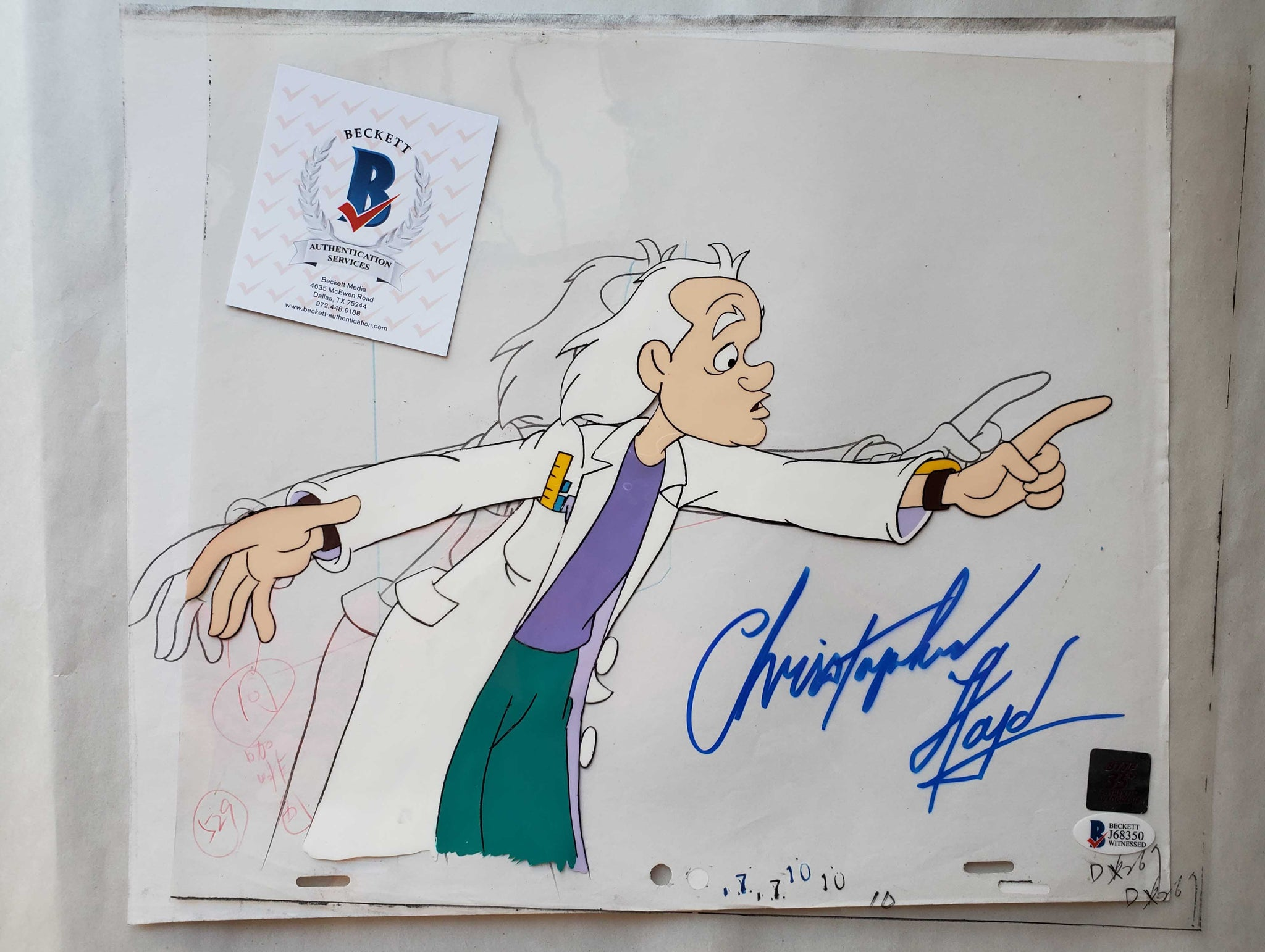 Doc Cel Signed by Christopher Lloyd 39 (EX0509) - Animation Legends