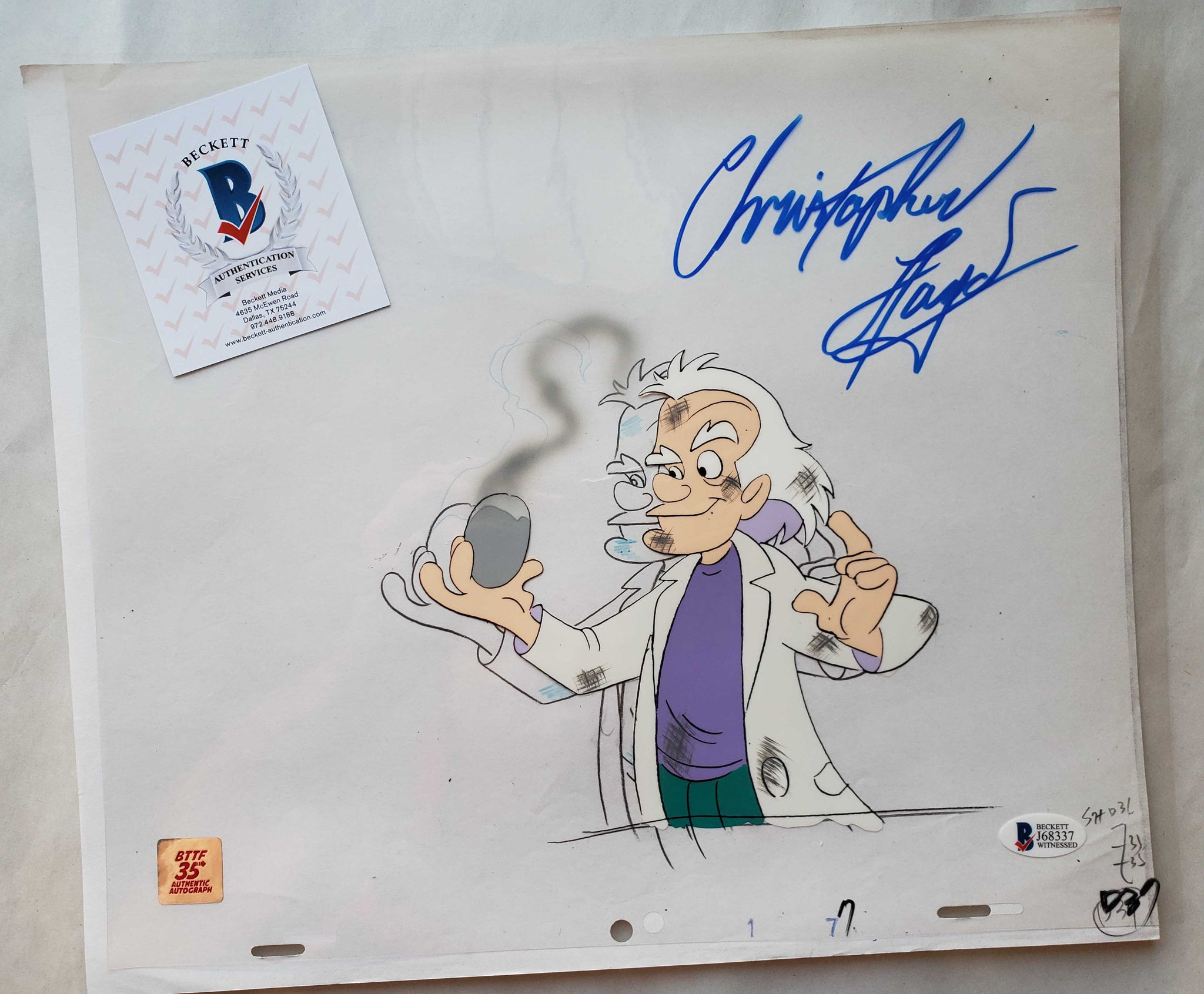 Doc Cel Signed by Christopher Lloyd 50 (EX0521) - Animation Legends