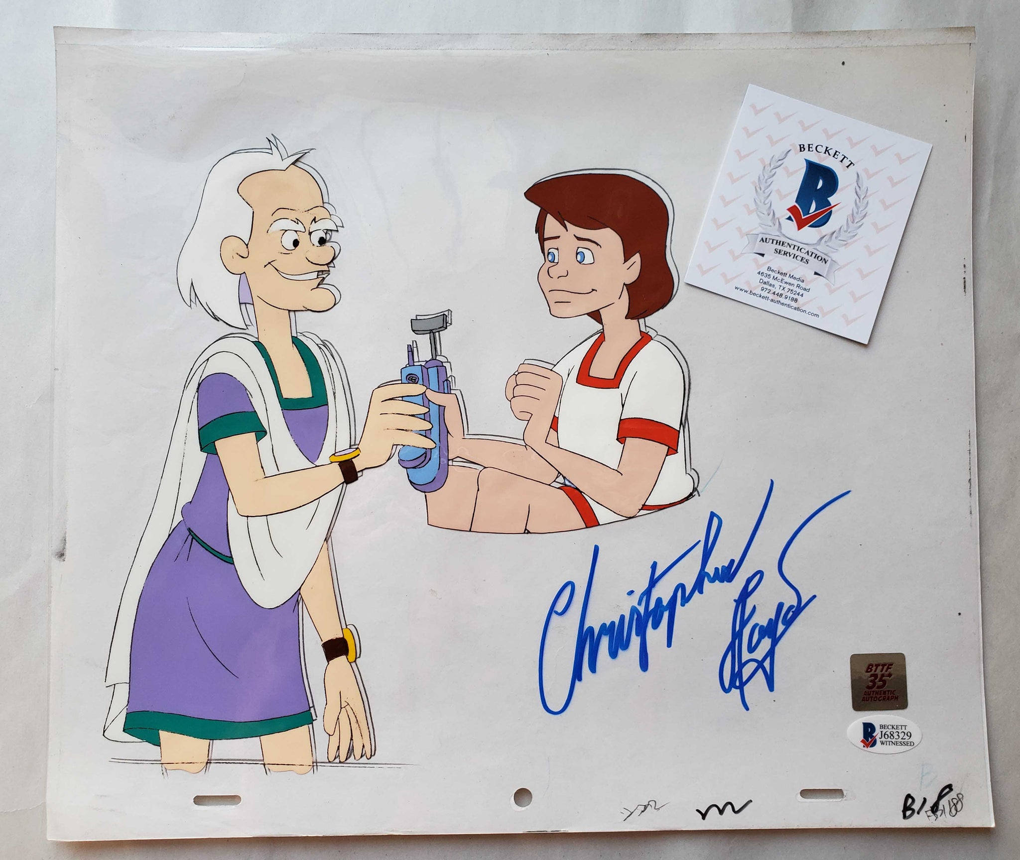 Doc Cel Signed by Christopher Lloyd 59 (EX0530) - Animation Legends