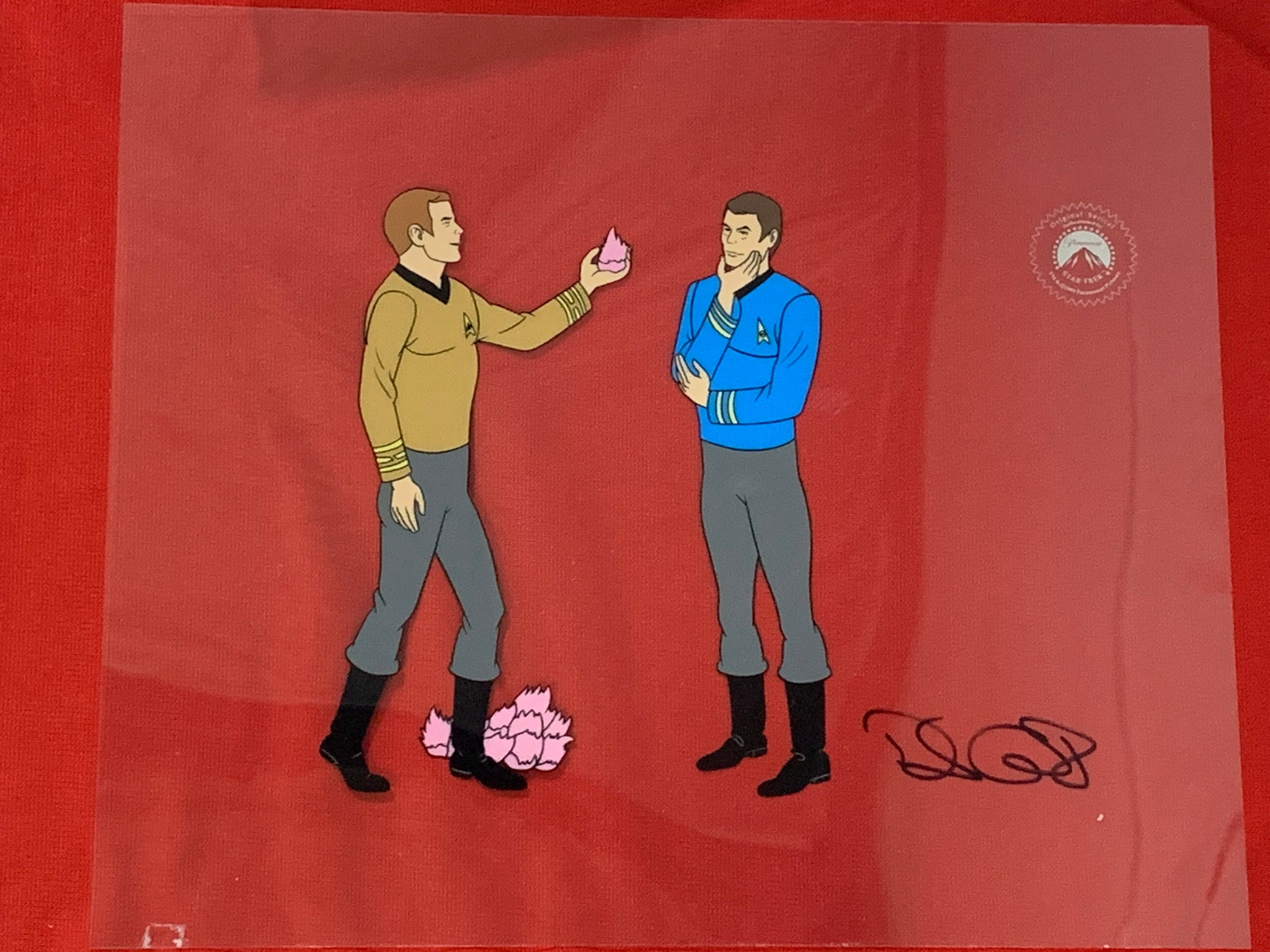 Star Trek sericel signed by David Gerrold 1 EX0943 - Animation Legends