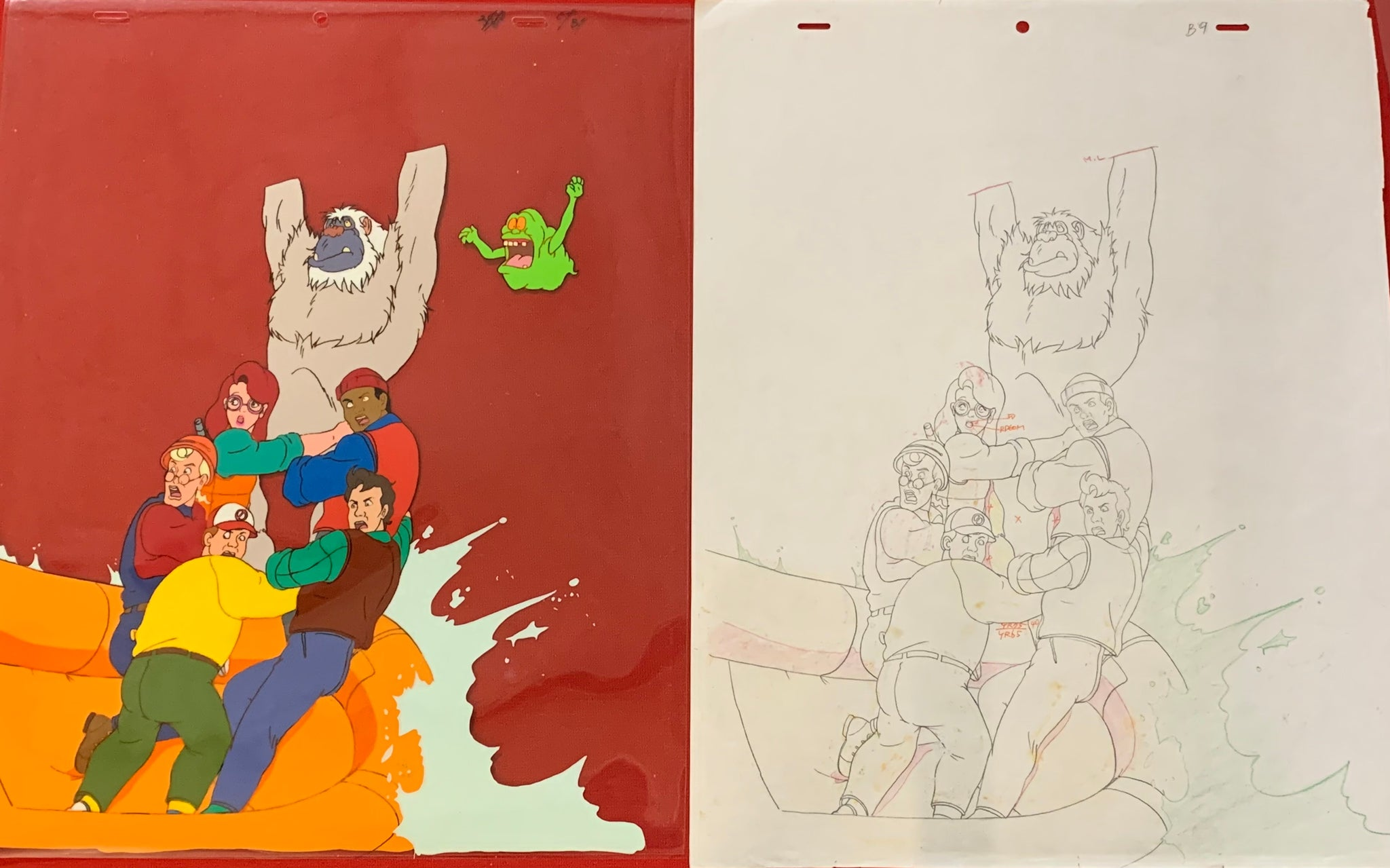 The Real Ghostbuster Large cel and sketch EX0955 - Animation Legends