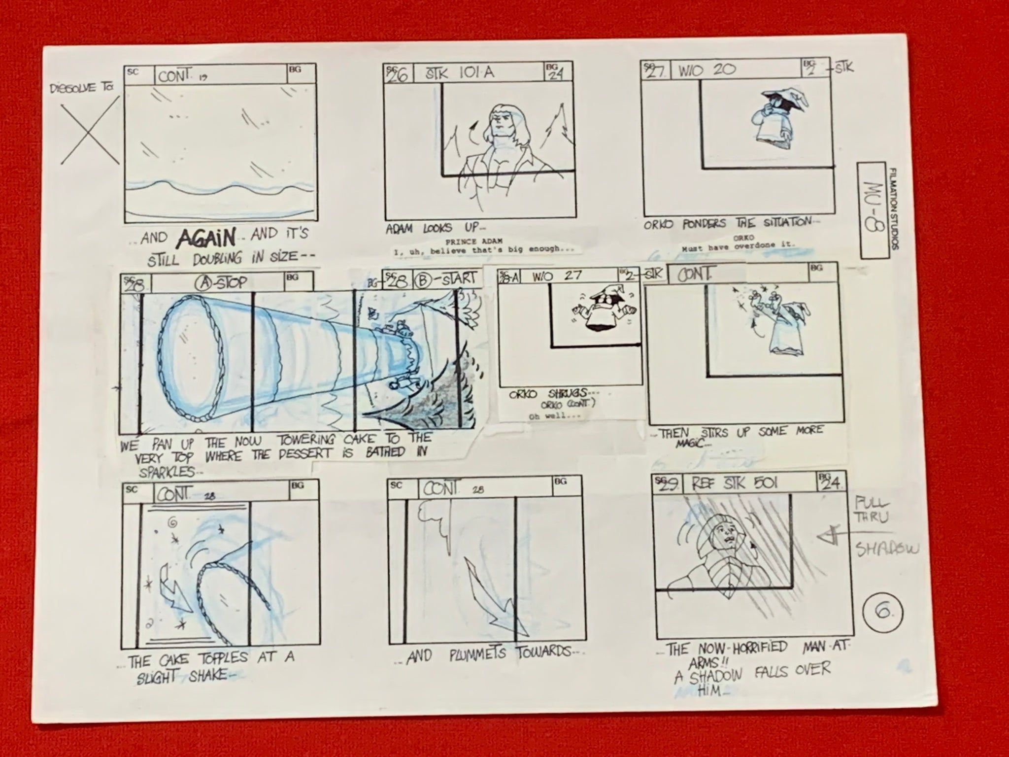 He-Man and Masters of the Universe Storyboard 8 (EX0735) - Animation Legends