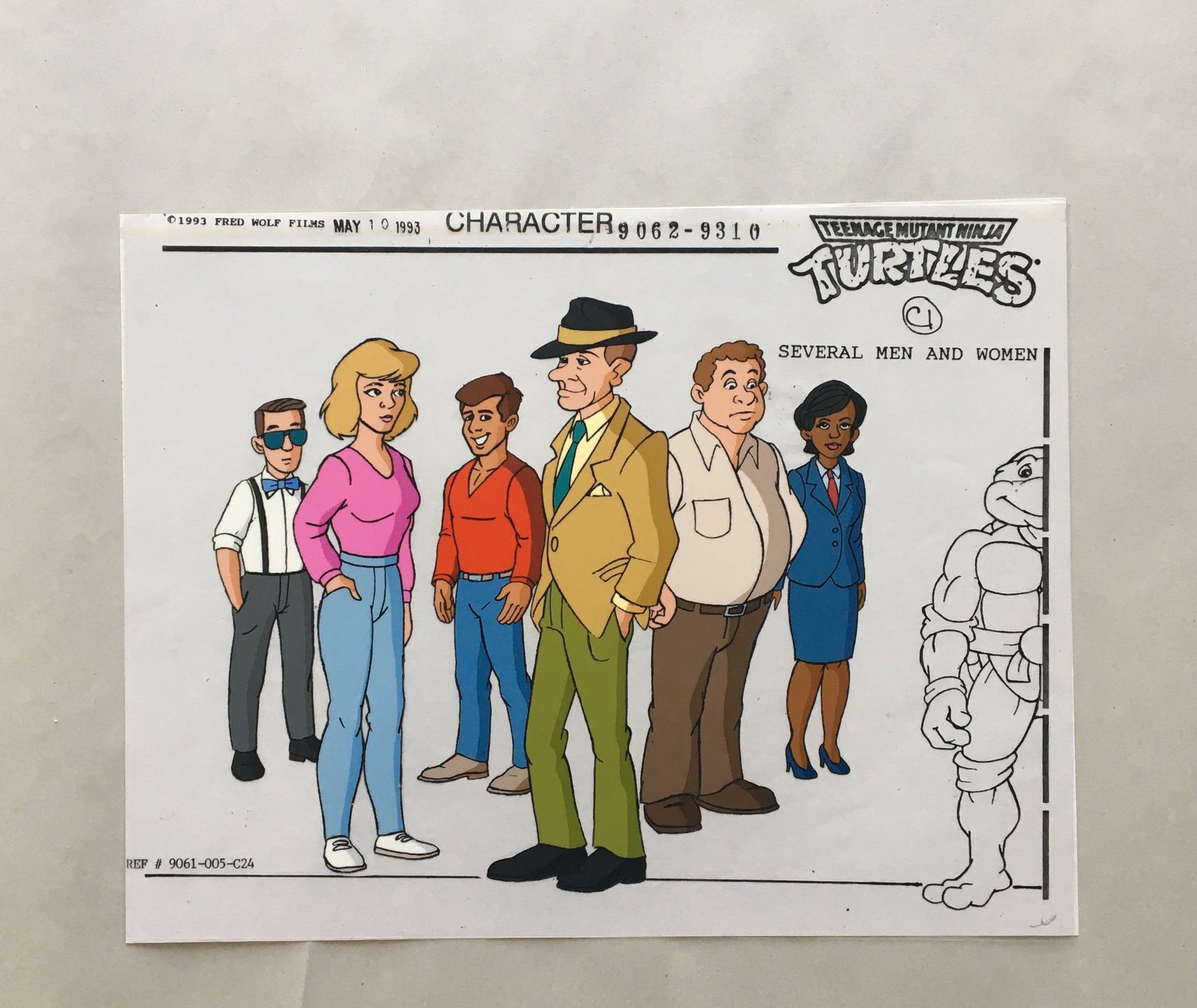TMNT Character Sheet: Cel of by-standards (EX0018) - Animation Legends