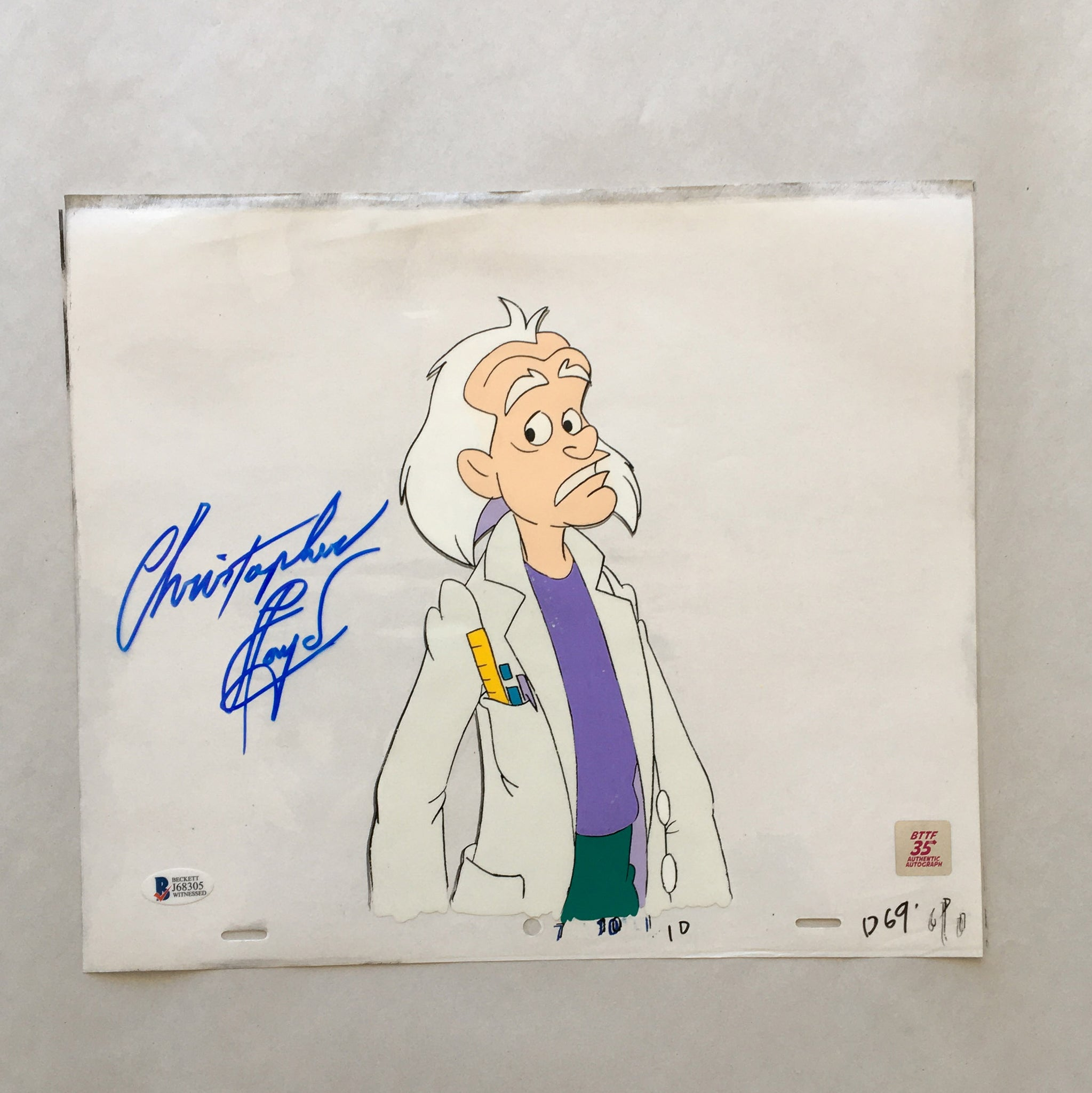 Doc Cel Signed by Christopher Lloyd 19 (EX0162) - Animation Legends